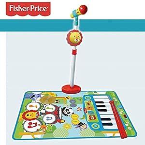 CLAUDIO REIG- Alfombra BATERIA Y Piano Fisher Price con Micro DE PIE Y Baquetas, (2727)