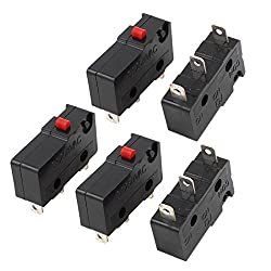 Sourcingmap® Ac 250v 3a Spdt 1no 1nc 3 Terminal Momentary Micro Switch 5pcs