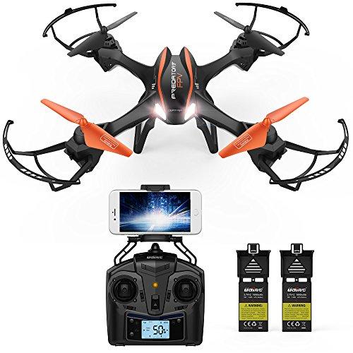 FPV Drohne mit Kamera simultaneous übertragung DBPOWER UDI U842 Predator 720P HD Kamera Drone Quadrocopter mit kopflosen Modus für Kinder und Anfänger draußen spielen
