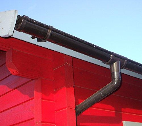 Dachrinnen Set RG 80 anthrazit Erkerhaus Typ 01