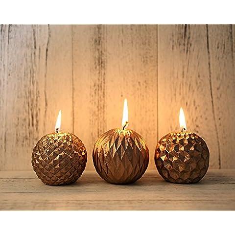 Venerdì nero Set di 3 candele a forma di pigna decorazione natalizia, regalo di compleanno, decorazione per feste