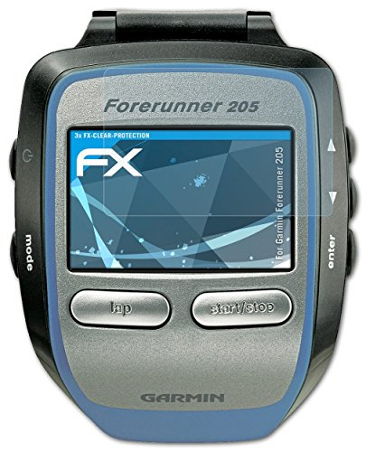garmin-forerunner-205-pellicola-protettiva-3-x-atfolix-fx-clear-ultra-trasparente-protezione-pellico