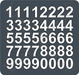 kleb-drauf® - 40 Zahlen, Höhe je 10 cm / Grau - glänzend - Aufkleber zur Dekoration von Autos, Motorrädern und allen anderen glatten Oberflächen im Außenbereich; aus 19 Farben wählbar; in matt oder glänzend