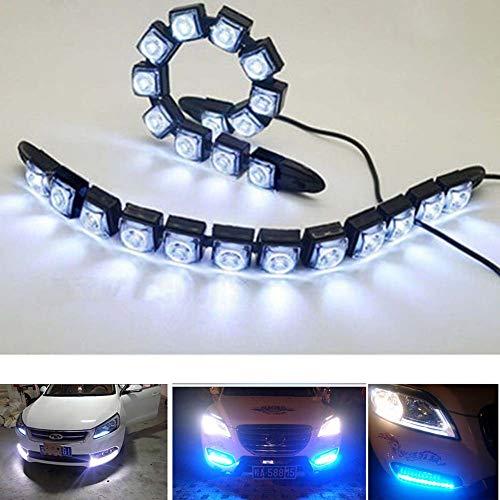 SayHia 2 stücke universal led tagfahrlicht Wasserdichte LKW Boot drl led Lichter super helle 12 v weiße led Streifen licht Super-led-licht