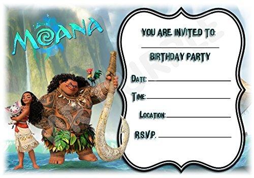 Disney Moana Birthday Party Invi...