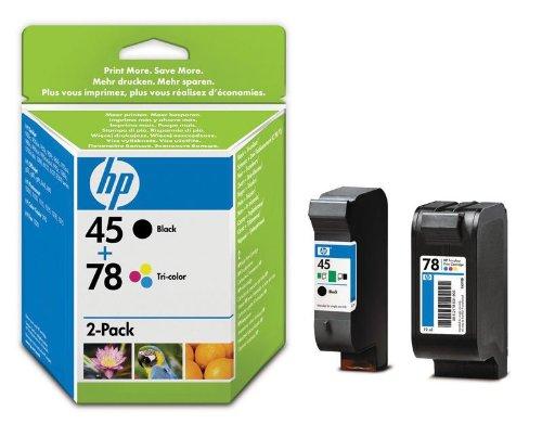 HP 45 2er-Pack  Schwarz /78 dreifarbig Original Tintenpatrone -
