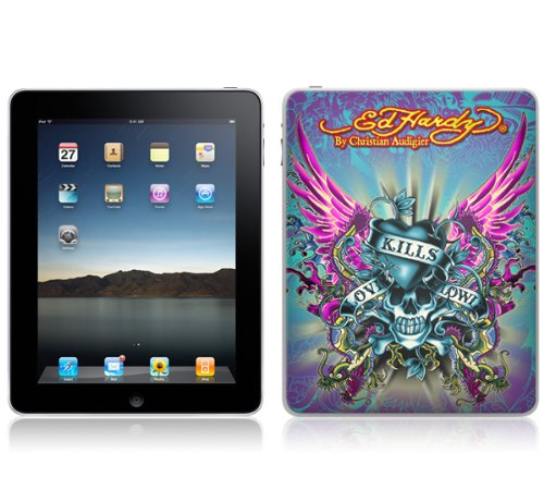 MusicSkins Ed Hardy - Love Kills Design-Schutzfolie für iPad