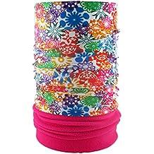 HeadLOOP POLAR EXTRA LANG Pink Fleece + Schlauchtuch Multifunktionstuch Schal Halstuch Kopftuch Microfaser
