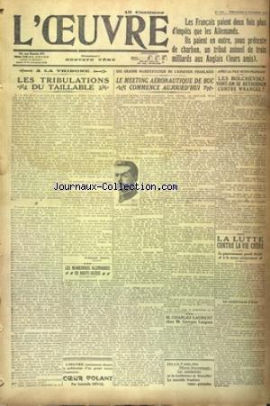 OEUVRE (L') [No 1834] du 08/10/1920