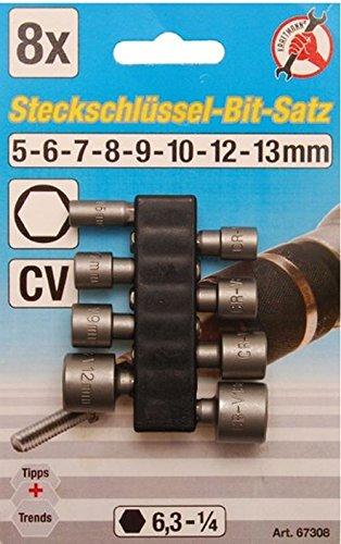 Kraftmann Steckschlüssel Bit Satz, 5-13 mm, 8-teilig, 67308