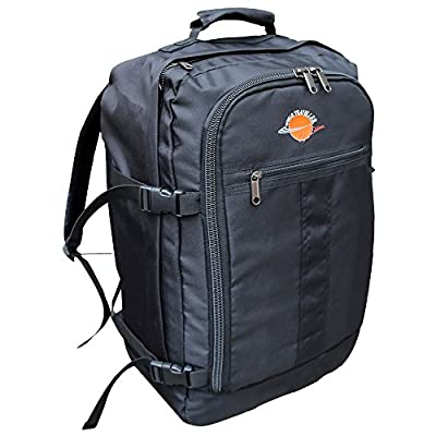 World Traveller Flight Approved Feather Light Weight Cabin Carry On Bag Backpack Hand Luggage Baggage Suitcase Perfect for Easyjet Ryanair produced by World Traveller - quick delivery from UK.