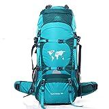 Mochila impermeable Topsky para senderismo de 70l; mochila grande de senderismo., mujer Infantil hombre Unisex, 30924, azul celeste