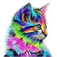 30x30cm DIY 5D Diamond Painting Kit, Full Drill Cute Cat Embroidery Cross Stitch Arts Craft Canvas Wall Decor