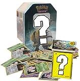 1 LEERE Pokemon Tin-Box + 100 gemischte Pokemonkarten + 50 Ultra Pro Sleeves