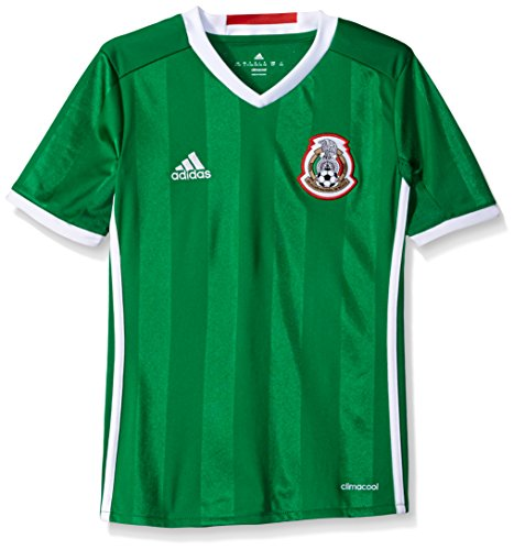 d166f58713692 Adidas Soccer Youth Mexico jersey, Medium, Green/Poppy