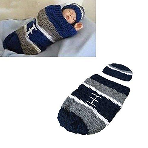 Hrph Wolle handgemachte Häkelarbeit-Fotografie Pullover Newborn Cap -