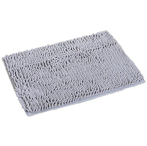 DaoRier 1pc 40 * 60 cm, absorbente, lavable, antideslizante cocina baño ducha Salón Alfombra Suave Shaggy alfombra gris
