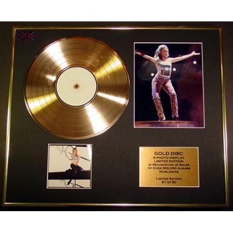 KYLIE MINOGUE/CD Disco de Oro/Disco & Foto Display/Edicion LTD/Certificato di autenticità/BODY LANGUAGE