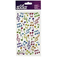 Sticko Music Notes, Multicolor, 1 Pack