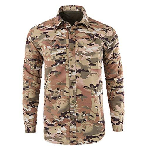 Diamant-streifen-shirt (Herren Hemd Slim Fit Diamant-Gitter Karohemd Kariert Militär Schnell trocknend Langarmhemd Freizeit Business Party Shirt für Männer)