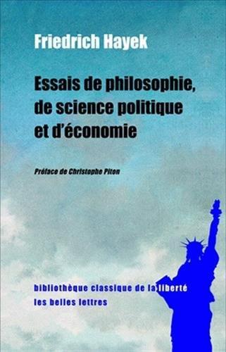 Essais de philosophie, de science politique et d'conomie