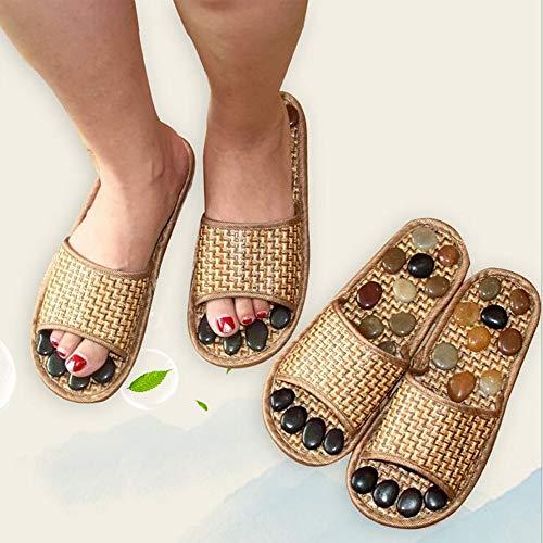 SHANGXIAN Fuß Akupressur Massage Pantoffeln Rutschfest Antibakteriell Reduzieren Fußschmerzen Für Männer und Frauen,39/40