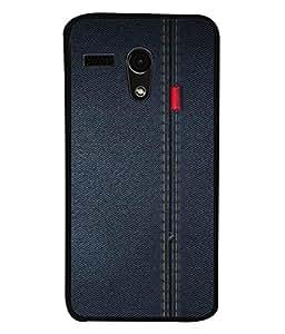 PrintVisa Designer Back Case Cover for Motorola Moto G :: Motorola Moto G (1st Gen) :: Motorola Moto G Dual (Jeans Denims tough comfortable red lable)