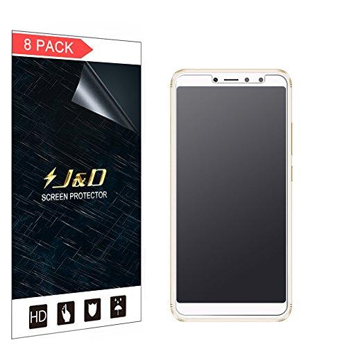 JundD Kompatibel für 8er Packung Redmi S2 Bildschirmschutzfolie, [Antireflektierend] [Anti Fingerabdruck] [Nicht Ganze Deckung] Hochwertige Matte Folie Schutzschild Bildschirmschutzfolie für Xiaomi Redmi S2