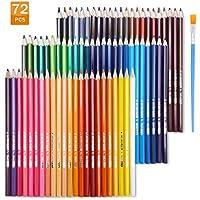 EBES  Lápiz de Color 72 Colores Soluble en agua Profesional por color Regalo Ideal para Artistas, Adultos y Niños