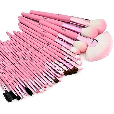 Glow Kit Pinceaux de Maquillage Rose - Lot de