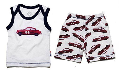 Claesen's Baby Boys Clothing Set (CL13013/CL13366_car print_Size L (9-12 Months))