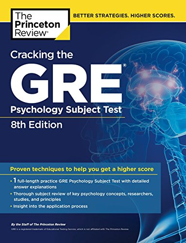 Cracking The Gre Psychology Subject Test, 8Th Edition (Princeton Review Series)