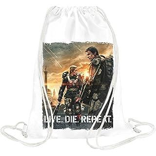 edge of tomorow live die repeat Drawstring bag