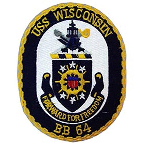 EagleEmblems PM5299 Patch USS,Wisconsin, BB-64 (8,9 cm) - Wisconsin Bb