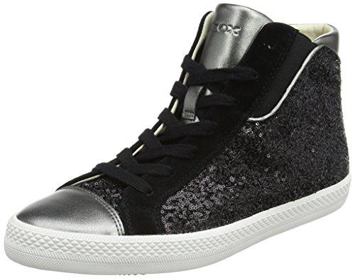 Geox Damen D Giyo A Hohe Sneaker Schwarz (Black/Gun)