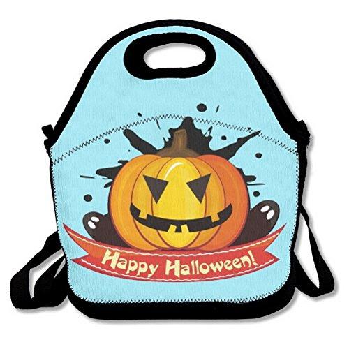 Unoopler Lunch-Taschen mit lustigem Kürbis-Emoji-Motiv, isolierte Handtasche, Lunchbox, Kühltasche mit Schultergurt, für Damen, Teenager, Mädchen, Kinder, Erwachsene (Turtle Kürbis Ninja)
