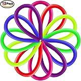 Vi-GO,Giocattoli di Stretch Sensory Colorful Aiutano a Ridurre i Disturbi a Causa di Stress e Ansia per ADD, ADHD, Autismo (12 Pacchetti) immagine
