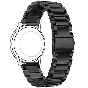 Ersatzuhrenarmband für FossilQ Uhrenarmbänder aus Metall von Ruentech – Farbauswahl, Breite 22mm, dreigliedriges Metallarmband für folgende Herrnuhren: FossilQ Crewmaster Gen 2 Hybrid, FossilQ Founder Gen 2 mit Touchscreen, FossilQ Nate Gen 2 Hybrid, FossilQ Wander Gen 2 Touchscreen Smartwatch