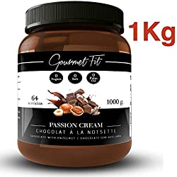Crème hyperprotéique au cacao et aux noisettes sans sucre et sans graisses saturées - Sans sucre de palme - Format 1KG Une saveur incroyable (Noisettes)
