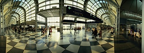 The Poster Corp Panoramic Images - Passengers at an Airport O'Hare Airport Chicago Illinois USA Photo Print (91,44 x 30,48 cm)