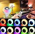 Amteker LED Glühbirne mit Bluetooth Lautsprecher, E27 RGBW Farbwechsel Lampe mit Fernbedienung für Zuhause, Bühne, Bar, Party Dekoration