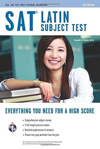 SAT Latin Subject Test, TestWare Edition (REA Test Preps)