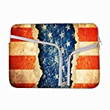 Grunge America 10 to 10.6 Inch Laptop Sleeve Case with Zipper & Built-in 2 Pockets For Charger & Mouse