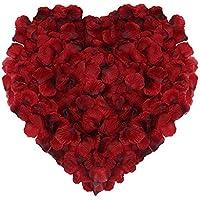 Naler 2000 Rosenblüten Rot Rosenblätter für Hochzeit Party Dekoration
