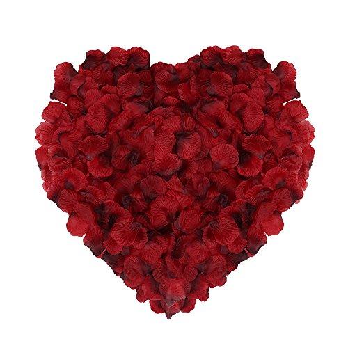 Naler 2000 Rossi Petali di Rosa di Seta Artificiali per la Festa della Mamma, Il Natale, Fiori di Matrimonio, CoriandolI