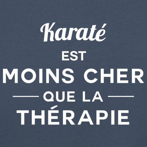 Karaté est moins cher que la thérapie - Femme T-Shirt - 14 couleur Bleu Marine
