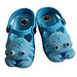 Diapolo Klein Krebs Kinder Badeschuhe Badelatschen Badeschlappen Sandale (hellblau, 25)