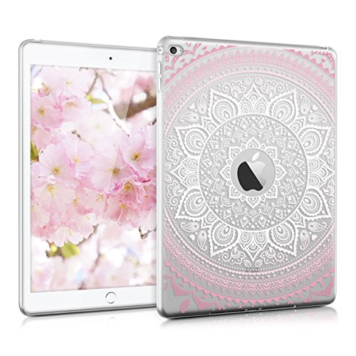 kwmobile Crystal Hülle für > Apple iPad Air 2 < TPU Silikon Case Tablet Schutzhülle Cover mit Indische Sonne Design in Rosa Weiß Transparent