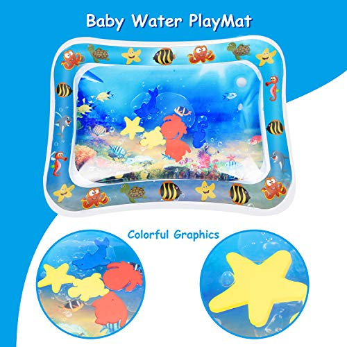 Alfombra Inflable con Agua,  Keten Tapete de PVC a Prueba de Fugas para Bebés,  Centro de Actividades Divertidas para La Estimulación del Crecimiento de Su Bebé
