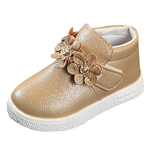 (Vovotrade Mädchen Stiefel für Kinder Martin Stiefel Blume Britischer Stil Warme Mädchen Floral Martin Sneaker Stiefel Kinder Baby Freizeitschuhe)